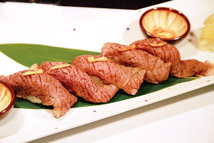 常陸牛大ぶり炙り握り寿司
