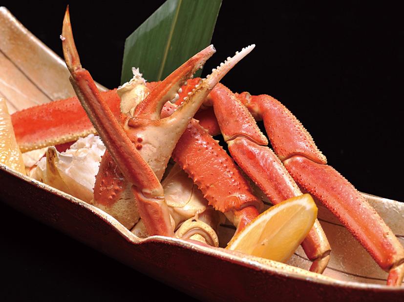 本ずわい蟹の炙り焼き